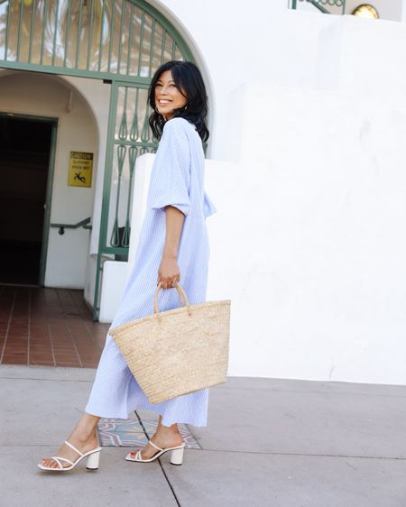 One of my favorite looks for #memorialdayweekend - a light and airy cotton dress that feels comfortable yet still pulled  together. Add a pair of barely there sandals for a backyard dressy occasion or thong sandals for casual at the beach.  I have linked a few that is #stylish, #comfortable, and #affordable - all under $100👉 http://liketk.it/3fsxM @liketoknow.it #liketkit #LTKunder100 #LTKsalealert #LTKstyletip