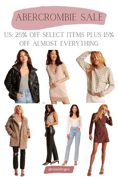 Shop fall outfits on sale!  Puffer jacket   teddy coat   sweater   fall dress   Knits   Sweater Vest   straight leg jeans   faux leather pants     #LTKunder100 #LTKsalealert #LTKunder50