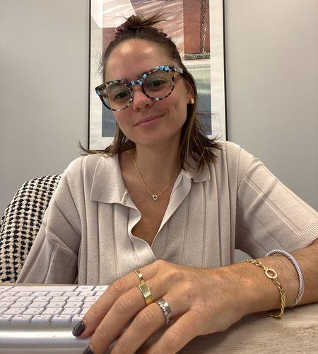 Zenni glasses. Gorjana gold jewelry. Rebecca Piersol style. Everyday jewelry. Holiday gift ideas.   #LTKGiftGuide #LTKunder100 #LTKstyletip