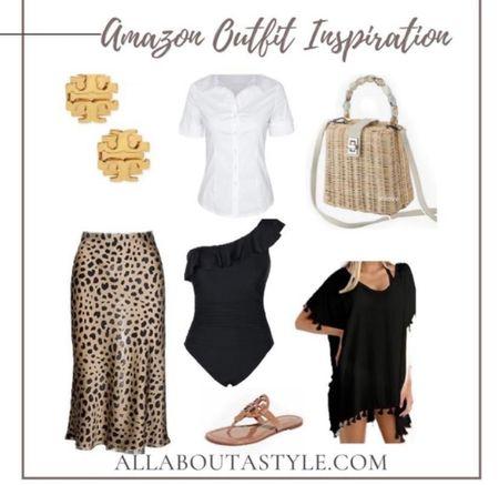 Amazon Women's Outfit Inspiration. Vacation wear. Beach wear. #vacation #swimwear #travel. #LTKDay #LTKunder50 #LTKswim @liketoknow.it #liketkit (enableimagetoviewlink)
