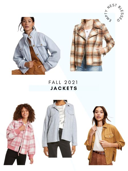 Bring on all the fall jackets! I'm loving patterns, neutrals, and soft pastels this fall! Shackets, overshirts, front pockets, and plaid are all the rage right now! Check out these cute and affordable options!  #LTKunder100 #LTKsalealert #LTKGiftGuide