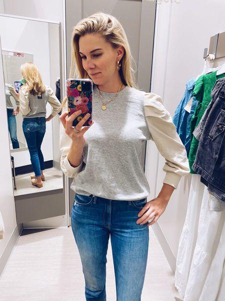 I'm wearing an xs in the sweatshirt. #target  #LTKstyletip #LTKunder50