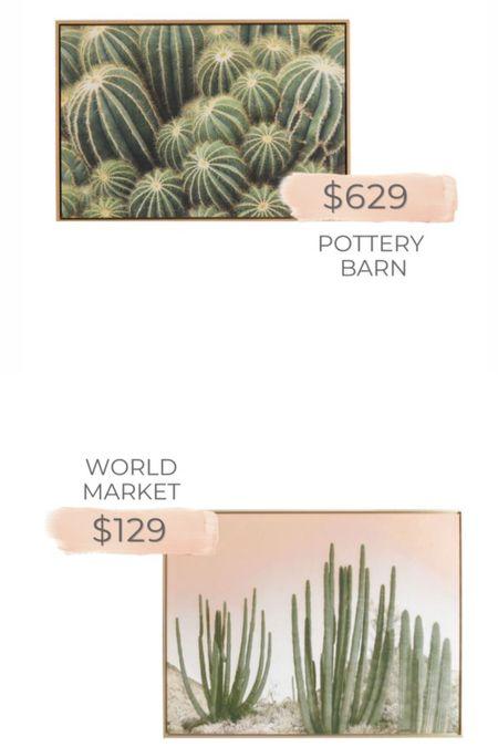 Pottery Barn artwork dupe from World Market   #LTKhome #LTKstyletip