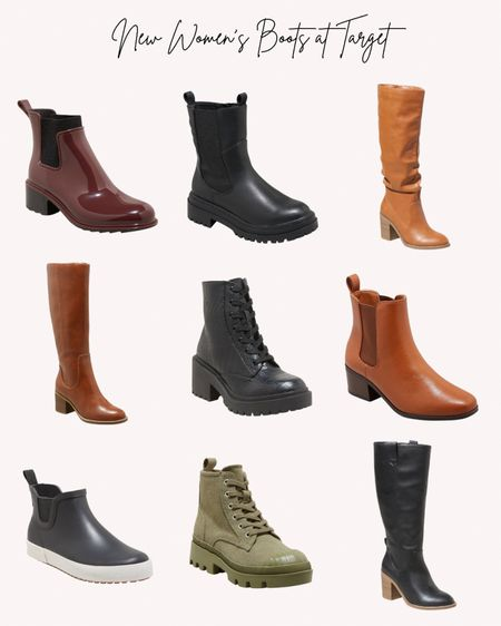Women's shoes, boots, booties, new, Target, fall, autumn  #LTKstyletip #LTKunder50 #LTKshoecrush