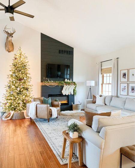 Neutral living room inspo. Neutral Christmas decor.   #LTKhome #LTKfamily