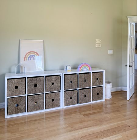 Playroom Cube Organizer (baskets are from Ikea called KNIPSA). There are two sets of cubes and I am getting one more as it fits perfectly against the wall.   #LTKstyletip #LTKhome #LTKunder100