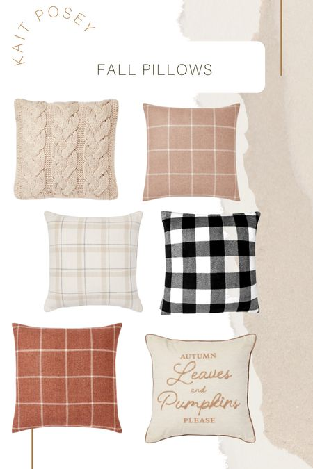 Fall pillows from Target & Amazon  #LTKSeasonal #LTKHoliday