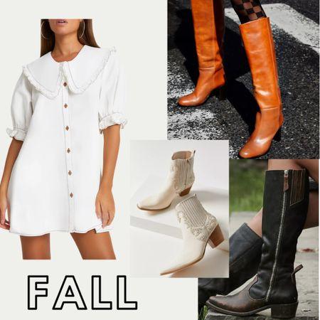 Fall trends - where cowboy meets chic! Fall fashion. Fall outfits . Fall outfit inspo. Cowboy boots. Fall dresses.   #LTKshoecrush #LTKstyletip #LTKSeasonal