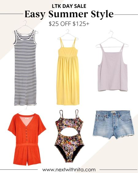 Easy summer outfits from Madewell on sale for LTK Day! Love these casual outfits, swimsuits, rompers, and more for vacation style, casual style, travel style, date nights.   #LTKstyletip #LTKsalealert #LTKunder100