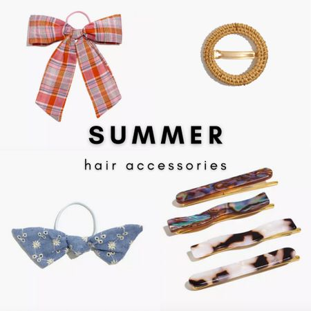 Fun and flirty hair accessories from Madewell.   Get $25 off $125 this weekend only with code LTKDAY.   #LTKstyletip #LTKDay #LTKsalealert