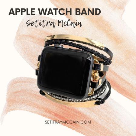 Cute black and gold Apple Watch band. http://liketk.it/3iZ7G #liketkit @liketoknow.it #LTKunder50 #LTKstyletip #LTKworkwear