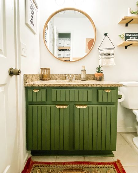 Small bathroom styling http://liketk.it/38tiT #liketkit @liketoknow.it #StayHomeWithLTK #LTKhome #LTKstyletip @liketoknow.it.home Shop your screenshot of this pic with the LIKEtoKNOW.it shopping app