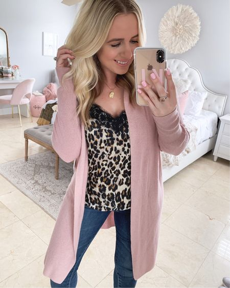 Leopard print & pink is my favorite combo so this is definitely one of my favorite looks from the sale! This cami is selling out fast & wont be around too long. Wearing a small in the cardi and medium in the cami 💗💗  @liketoknow.it http://liketk.it/2DjpU #liketkit #LTKspring #LTKsalealert #LTKbeauty #LTKstyletip #LTKunder50 #LTKunder100 #LTKfall #nsale