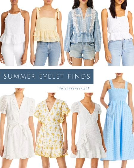 {Summer Eyelet Finds} Currently have my eye on all things eyelet and these are not to be missed 🤗 More linked than shown! To shop, click the link in my profile or you can shop by screenshot in the @liketoknow.it app! #liketkit #LTKunder100 #LTKunder50 #LTKstyletip http://liketk.it/3ievX