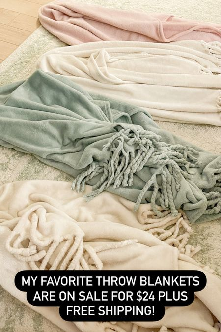 My favorite throw blankets are on sale die $24 plus free shipping! Comes in several colors.   #LTKhome #LTKunder50 #LTKsalealert