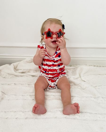 The cutest Fourth of July outfits for your little gir #LTKbaby ls! The fabric on this one was so soft - comes with a bow as well!    http://liketk.it/3jRYM #liketkit @liketoknow.it #LTKstyletip #LTKfamily