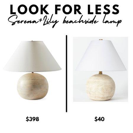 Serena & Lily wood beachside lamp, table lamp, lighting, neutral home decor   #LTKhome #LTKunder50