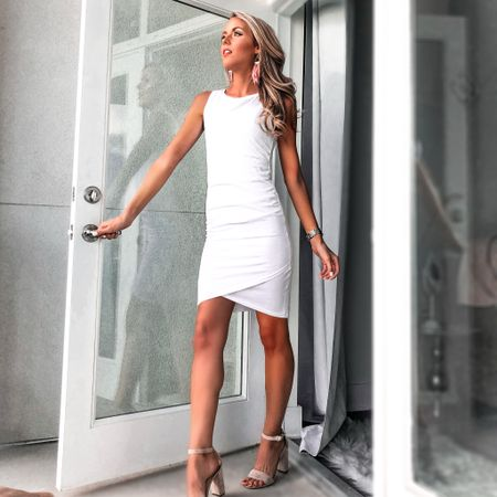 My absolute favorite purchase from the Nordstrom Anniversary Sale this year! For under $35, this dress comes in SO many amazing colors and is incredibly flattering on all kinds of body types. The ruching, the quality NOT see-through fabric, the versatility— this is it ladies! 💃🏼 PLUS the sale is open to everyone until August 4th...so go get yours now before it sells out! ➡️ http://liketk.it/2DzW0 or on the @liketoknow.it app.  PS: I'm wearing an XS and I would say it runs true to size. #liketkit #LTKsalealert #LTKunder50 #LTKstyletip