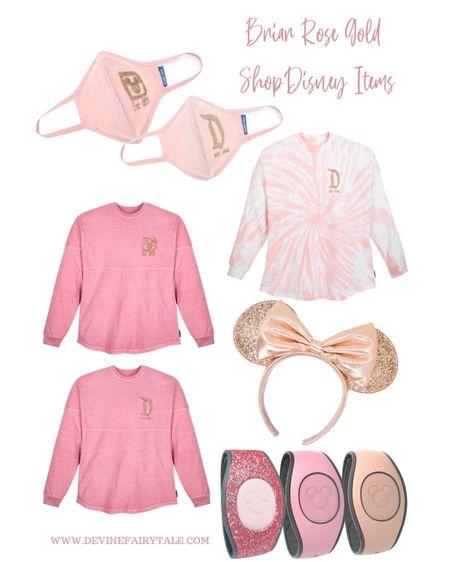 Briar Rose Gold ShopDisney Items - Spirit Jersey, Face Mask, Magic Bands, Minnie Ears #rosegold #shopdisney #briarrosegold #liketkit @liketoknow.it http://liketk.it/3a8NJ