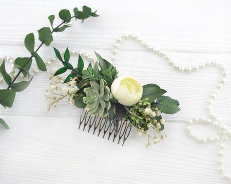 Succulent hair clip by OlgasCreativeStudio on Etsy! 🌿   http://liketk.it/3j8yN @liketoknow.it #liketkit #LTKwedding #LTKstyletip #LTKunder50