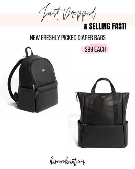 New Freshly Picked diaper bag releases & selling fast! Both are only $99.   #LTKitbag #LTKunder100 #LTKbaby