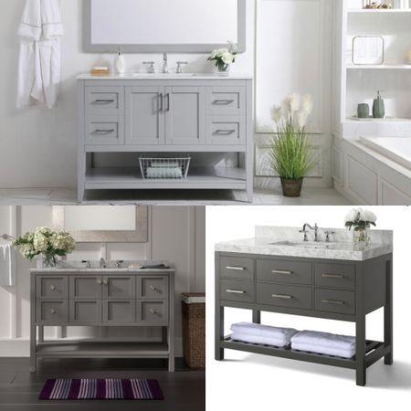 Bath vanities that elevate your space with both style and functionalities.   #LTKsalealert #LTKSeasonal #LTKhome