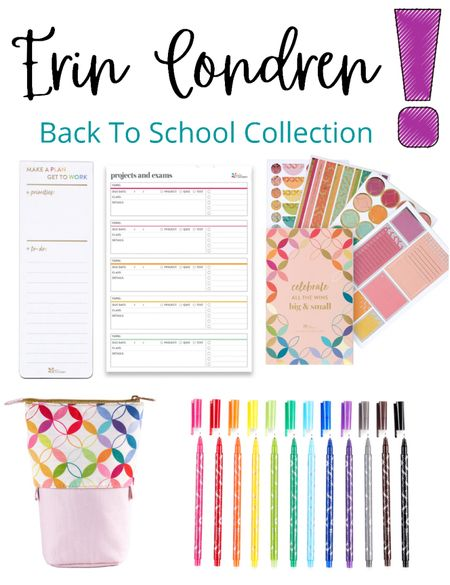 Erin Condren back to school collection!   Obsessed with these Erin Condren finds for anyone going back to school 🖍  ✏️📌🎓✂️🖇🚌  School, back to school, school supplies, planners, notebooks, stickers, college, college supplies  #LTKunder50 #LTKSeasonal