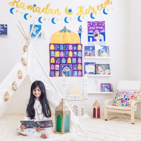 Who is ready for Ramadan? Our Ramadan area is complete and I couldn't be happier with how it turned out! I've decided to share it here in case there's anything you want to purchase too before the month starts! (You still have time!)  As you know, my daughters and I really enjoy decorating our home and playroom according to different themes and this time my son had some extra smart inputs too. (He figured out how to connect the lighting to our Alexa!) I did a whole blog post on everything we have included here for your convenience. I hope you have the most wonderful blessed month ahead filled with good health, the love of family and that your prayers are answered.  Which part is your favorite? I can't choose! The advent calendar is super cute but I adore those gorgeous lanterns that light up too!!  Happy Ramadan!!  Here is a link to the blog post: https://www.funwithmama.com/ramadan-decorations-ideas/ #ramadandecorations #ramadan #ramadan2021   http://liketk.it/3crv7 #liketkit @liketoknow.it