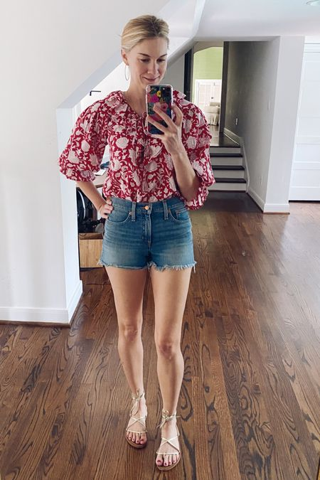 I finally found a pair of high rise denim cut offs I feel comfortable in! They're not too short, and not too long. They're high-rise, but they don't give me a huge wedgie! They're winners!   #LTKunder100 #LTKstyletip