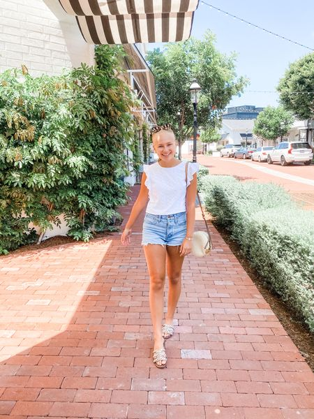 So in love with this summery look! The Lilly Pulitzer top is sold out (part of a set with a matching skirt) but I linked two Lilly tops that are so so cute. These Madewell denim shorts are my new favs this year!   #LTKstyletip #LTKunder100 #LTKshoecrush