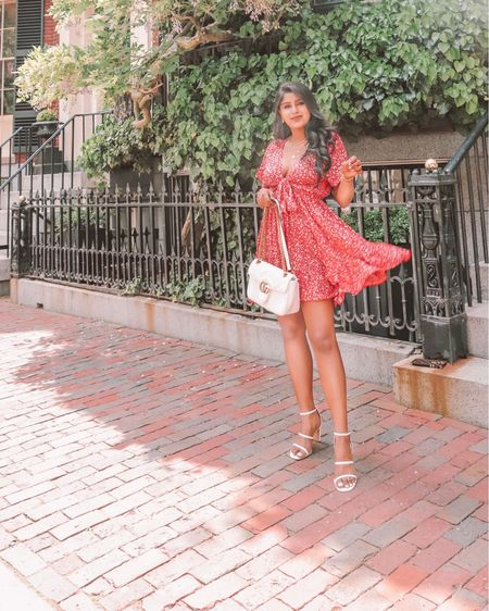 Happy Monday! Summer florals in this  cutest ruffle tie front dress that is from @amazonfashion  . . Shop the look  1️⃣ http://liketk.it/3gZK2  2️⃣ link in bio   #liketkit #LTKunder50 #LTKsalealert #LTKstyletip @liketoknow.it