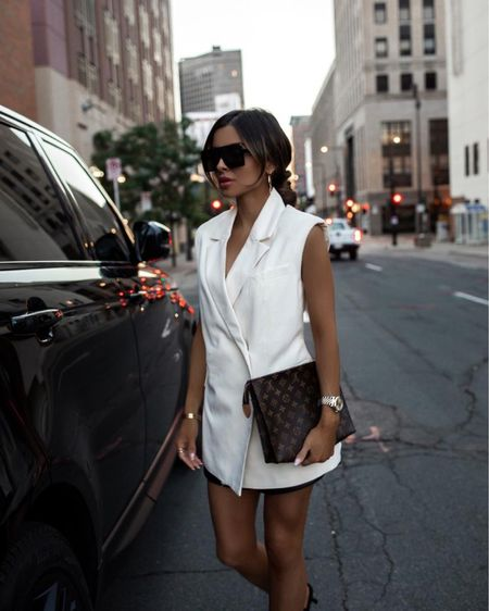 Summer night outfit Nordstrom vest wearing an XS Louis Vuitton Toiletry 26 Saint Laurent sunglasses   http://liketk.it/3iiSt #liketkit @liketoknow.it   #LTKitbag #LTKunder100 #LTKstyletip