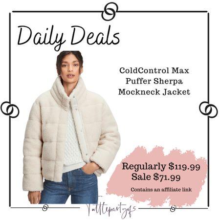ColdControl Max Puffer Sherpa Mockneck Jacket    #LTKSeasonal #LTKsalealert #LTKunder100