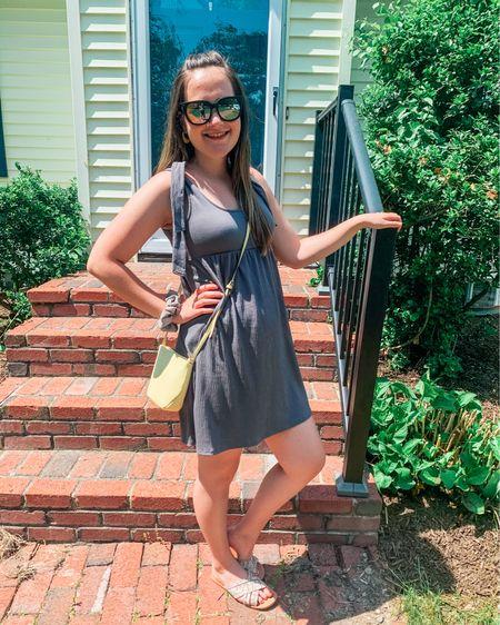 Casual tie dress. Dress tts- wearing my post partum size sm  http://liketk.it/3gTKH #liketkit @liketoknow.it #LTKstyletip #LTKunder50 #LTKworkwear