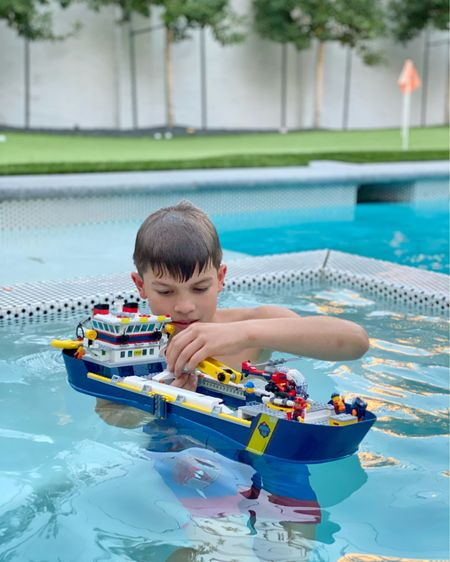 I think I was bummed for a week when this gift idea I was excited to share was sold out so early in mid November. So to make the best of it I watched way too many YouTube videos of people testing the LEGO boats that actually float. 😂 Seriously... WAY to many, I think I can call myself an aficionado of them. 🤓 So I compiled a list of them in my Amazon shop and also included links to other vendors in this post on the @liketoknow.it app. You can get to both through my #linkinbio 👉 @tellittoyourneighbor. And Lego sets are like new release sneakers, people buy them up, sell them out and then you can find them marked up $100 on Amazon or eBay. So if you really wanted to buy this pictured ship regardless, it is linked there, too. Beau loves to bring his LEGO into the pool and my pool builder said it was okay, but don't try this at home until you've checked with yours, too! 👌🏼   http://liketk.it/33Mqg #liketkit #LTKgiftspo #LTKkids #LTKfamily @liketoknow.it.family @liketoknow.it.home