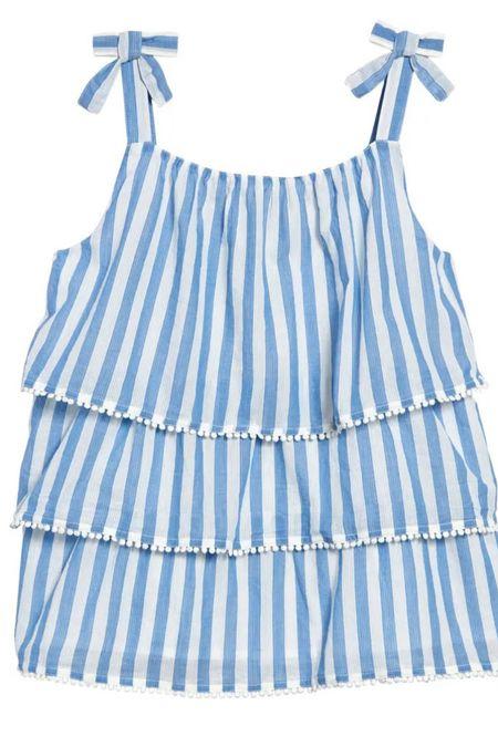 Little girl stripe tiered top #LTKfamily #LTKkids #LTKunder50 http://liketk.it/3g6L1 #liketkit @liketoknow.it