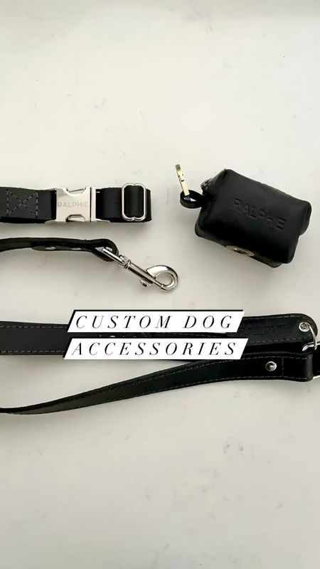 """Gifted items from etsy seller @leatherius. Use code WHATJESSWORE33 for 33% off.  Custom leather dog collar (1"""" but wish I received the 5/8"""" collar since Ralphie is a smaller dog), poop waste bag and 1"""" leash which is best for larger hands in my opinion.   #LTKkids #LTKunder50 #LTKfamily"""