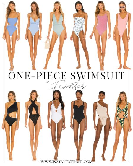 Favorite one piece swimsuits from Revolve. Love all the cutouts and ties happening this season—so cute!  #LTKSeasonal #LTKstyletip