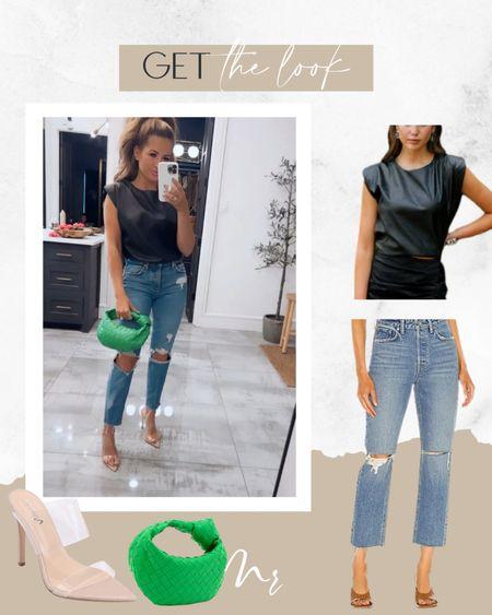 Date night look date night outfit blacj leather top code MAGEN20 http://liketk.it/3qyZr @liketoknow.it #liketkit   #LTKunder100 #LTKunder50 #LTKsalealert