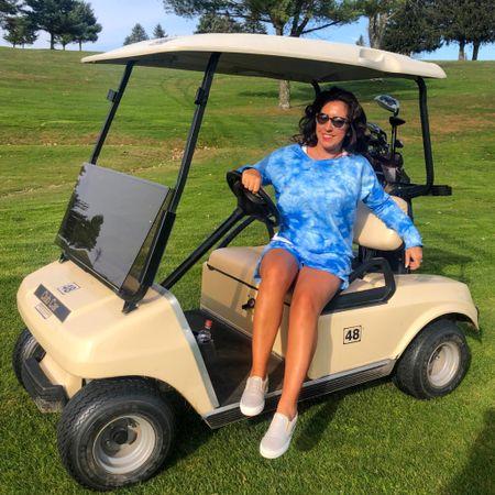 Sam golf course, same Betsey Johnson tie dye set, different color, different day. #loungewear #athleisure #LTKsalealert #LTKfit #LTKunder50 #liketkit @liketoknow.it http://liketk.it/30pfC