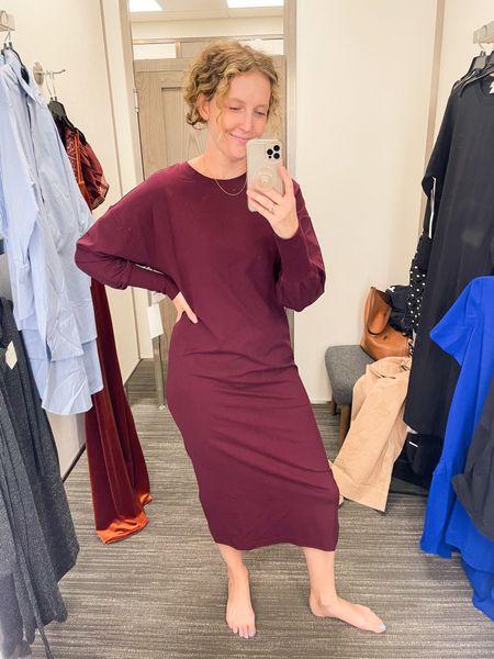 Comfy sweatshirt dress…feels like butter 💯 (wearing a small)   #LTKworkwear #LTKHoliday #LTKunder50