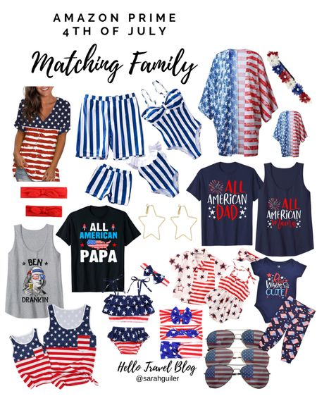 Fourth of July matching family. Patriotic family matching outfits. Amazon swimsuits. Kimono cover up. Mommy and me bows. Independence Day outfits. Family matching swimsuits. Bathing suits. @liketoknow.it @liketoknow.it.family http://liketk.it/3hWWP #liketkit #LTKswim #LTKfamily #LTKunder50