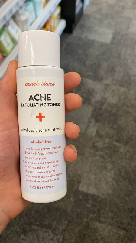 Peach slices exfoliating toner with salicylic acid, lactic acidic and centella to improve skin tone, texture, & pores.   #LTKunder50 #LTKbeauty