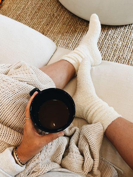 coziest socks // 3 colors // FYI no grip on bottom // $19 🧦 #loungewear #cozy   #LTKunder50
