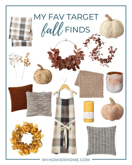 All my favorite Fall decor finds from Target! Bring on the tailgating and snuggling.   #LTKSeasonal #LTKhome