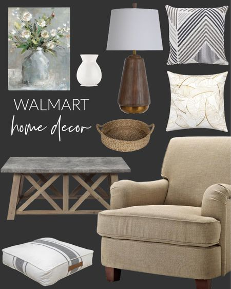 Walmart had some great home decor items. Love this cozy chair ♥️ easy pieces to spruce up your decor before the holidays. Perfect chair for guest room.  #walmartfinds #homedecor #seatingarea   #LTKfamily #LTKhome #LTKHoliday