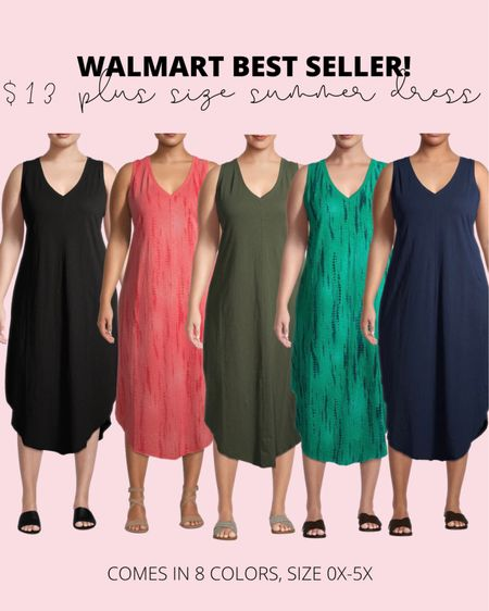 These $13 plus size summer dresses have been a best seller! They can be dressed up or down for the perfect plus size summer outfit!   #LTKcurves #LTKstyletip #LTKunder50