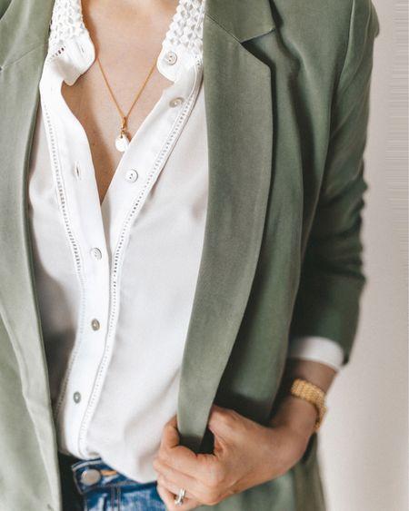 Casual blazer & blouse mixed with golden jewelry  http://liketk.it/2BQ7a #liketkit @liketoknow.it #LTKspring #LTKstyletip