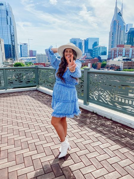 Peace out work week ✌🏼😜  I have worn this dress to at least 3 major events since I've gotten it (just scroll through my profile and you'll see 😂) but I LOVE it! AND! It's on sale for $28!!! (usually $39) plus free one day delivery if you have Prime, so grab it quick! Also comes in a lot of different colors!   I'm wearing size small for reference 💙🧿    #LTKsalealert #LTKunder50 #LTKSeasonal