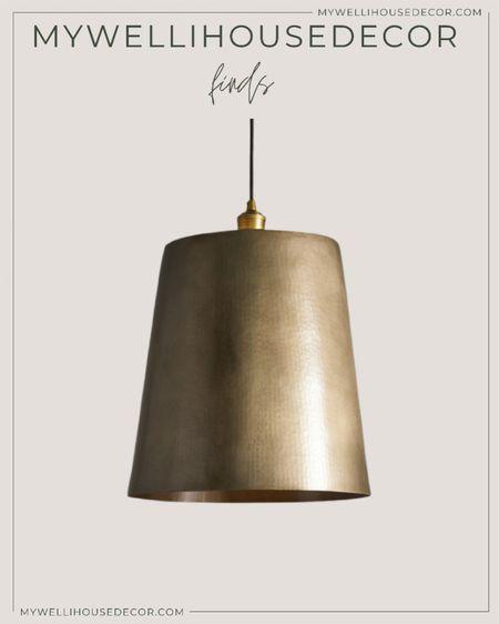 Brass Pendant lights, dome light fixture   Pendant light, studio mcgee, target home decor, brass light, west elm, restoration hardware, crate and barrel, pottery barn, cb2, Arhaus   #LTKhome #LTKsalealert #LTKSale